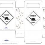 Printable Dinosaur Crossing Favorbag