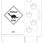 Large Printable Dinosaur Crossing Favorbag