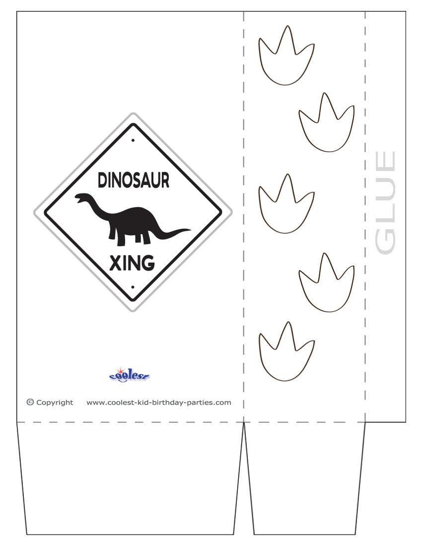 Large Printable Dinosaur Crossing Favorbag Coolest Free Printables