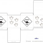 Printable Dinosaur Crossing Favorbox