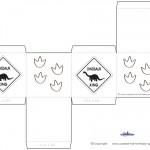 Printable Dinosaur Crossing Favorbox
