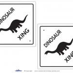 Medium Printable Dinosaur Crossing Decorations