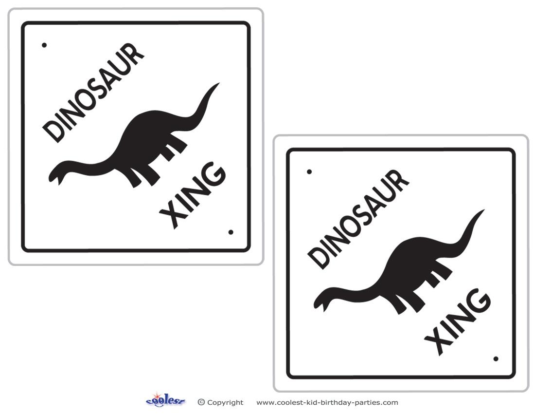 Medium Printable Dinosaur Crossing Decorations Coolest Free Printables