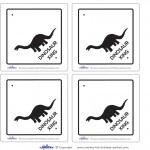 Blank Printable Dinosaur Crossing Thank You Cards