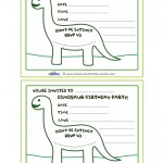 Printable Brontosaurus Dino Invitation