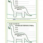 Printable Brontosaurus Dino Invitation