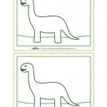 Blank Printable Brontosaurus Dino Invitation