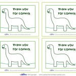 Printable Brontosaurus Dino Thank You Cards