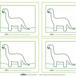 Blank Printable Brontosaurus Dino Thank You Cards