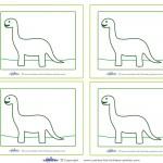 Blank Printable Brontosaurus Dino Thank You Cards