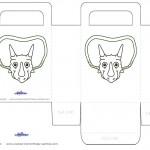 Printable Triceratops Dino Favorbag
