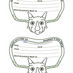 Printable Triceratops Dino Invitation