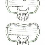 Printable Triceratops Dino Invitation