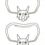 Blank Printable Triceratops Dino Invitation