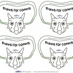 Printable Triceratops Dino Thank You Cards
