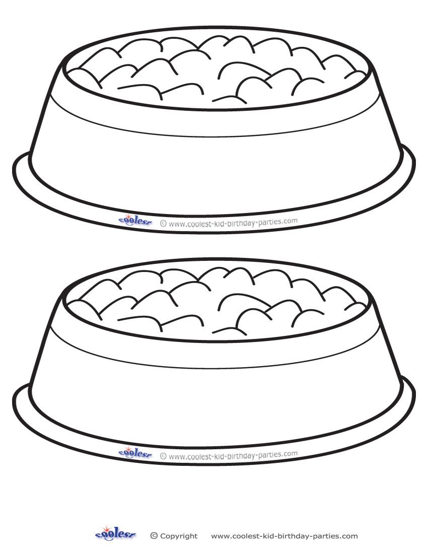 Blank Printable Dog Bowl Invitations