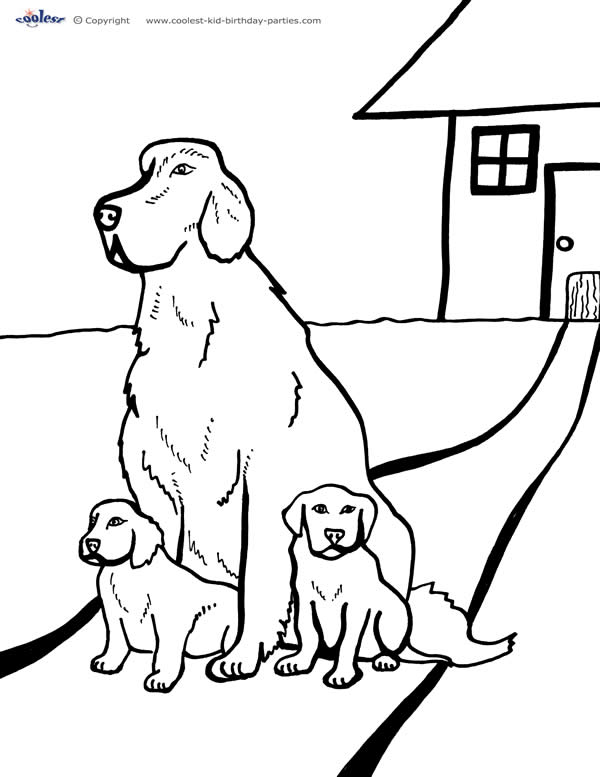tags - Dog Coloring Page 2