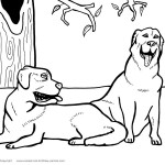 Printable Dog Coloring Page 4