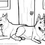 Printable Dog Coloring Page 6