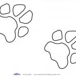 Printable Dog Paw Print Decoration