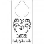 Printable B&W Spider Doorknob Hanger