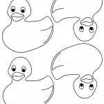 Blank Printable Rubber Ducky 1 Thank You Cards