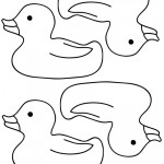 Blank Printable Rubber Ducky 2 Thank You Cards
