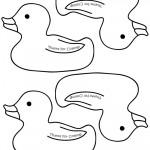 Printable Rubber Ducky 2 Thank You Cards