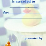 Printabe Ducky Certificate