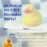 Printable Rubber Ducky Invitations