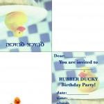 Printable Ducky Foldable Invitation