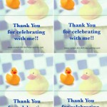 Foldable Ducky Thank You Cards