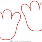 Printable Elmo Footprints