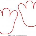 Printable Elmo Footprints