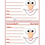 Printable Elmo Invitations