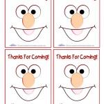 Printable Elmo Thank You Cards