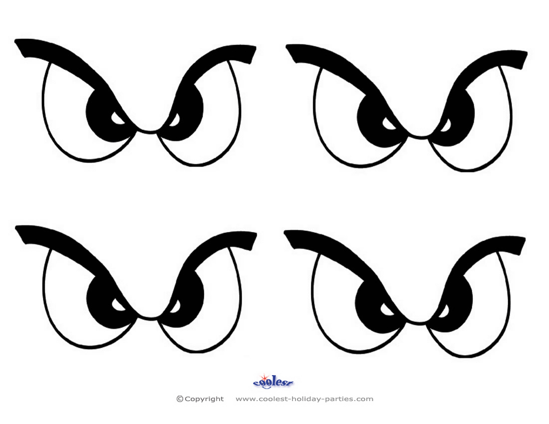 photograph about Free Printable Eyes titled Minimal Printable Eyes 1