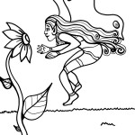 Printable Fairy Coloring Page 1