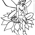 Printable Fairy Coloring Page 2