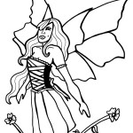 Printable Fairy Coloring Page 4
