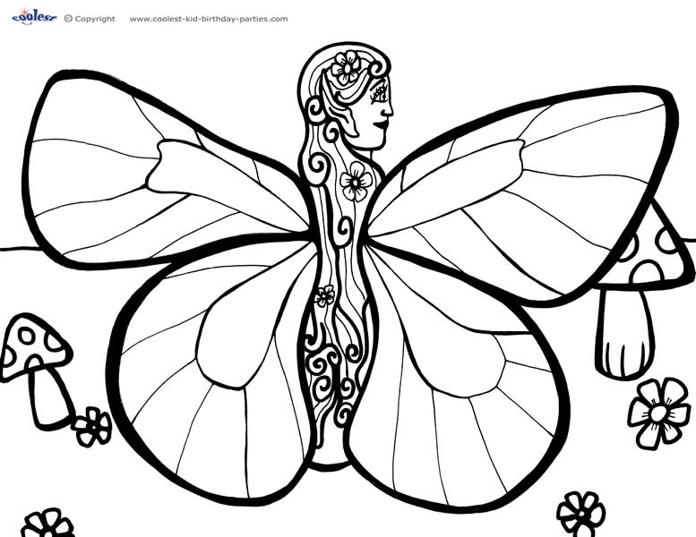 anime fairy coloring pages download free printable coloring pages