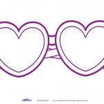 Printable Heart-Shaped Glasses Decoration