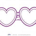 Printable Heart-Shaped Glasses Decoration
