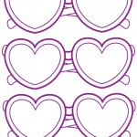 Small Printable Heart-Shaped Glasses Decoration