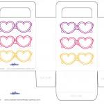 Printable Heart-Shaped Glasses Favorbag
