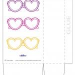 Large Printable Heart-Shaped Glasses Favorbag