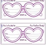 Printable Fashion Glasses Invitations