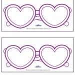 Blank Printable Heart-Shaped Glasses Invitations