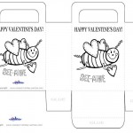 Printable B&W Bee-Mine Valentine's Day Favorbag