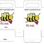 Printable Colored Bee-Mine Valentine's Day Favorbag